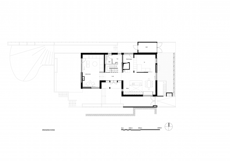 Grundriss des Erdgeschoss